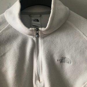 The North Face white 1/4 zip lightweight fleece